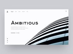 Going back to the architects' network website concept we did back in the day. This time, emphasizing transitions with a construction-inspired motion. Emulating materials and building process is a way to bring immersion into the experience.