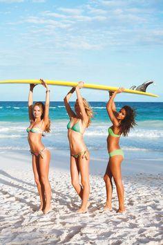 Surfer girls have more fun.  #VSSwim