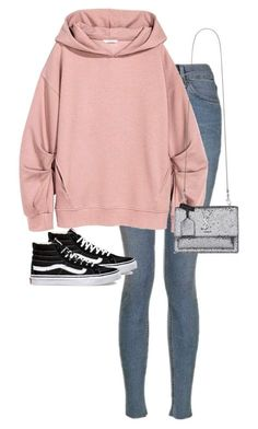 """Untitled #13185"" by alexsrogers ❤ liked on Polyvore featuring Topshop, Vans and Yves Saint Laurent"
