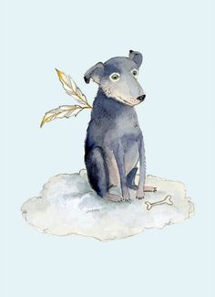 Dog illustrations by Tracey Long - Possibility of doing one of B similar to this with more treats! HA!
