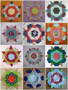 Possum Blossom Patchwork: Tempted? - Rose Star Quilt block party