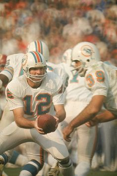 Bob Griese & Larry Csonka 1973 - Miami Dolphins - Two NFL Hall of Fame Members