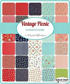 Vintage Picnic Jelly Roll by Moda - Preorder