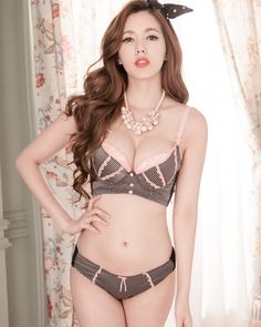 3 4 cup Lace   Cotton Bra and Panties Set Bathing Suits be48aed88