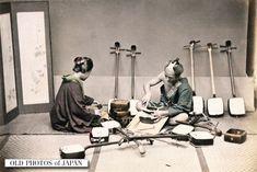 OLD PHOTOS of JAPAN: 三味線職人 1890年代