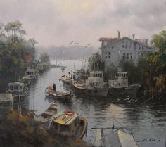 Sans Art, Great Paintings, Istanbul, Home Art, Contemporary Art, Watercolor, Artist, Nature, Outdoor