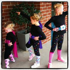 Home made super hero costumes for girls