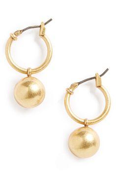 Main Image - Madewell Hoop & Ball Earrings