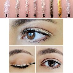 Find More Eyeliner Information about Professional Maquiagem Cosmetics Eye Liner Makeup For Women Shining Bronzer Gold Color 8 Colors Shimmer Glitter Liquid Eyeliner,High Quality eyeliner waterproof,China eyeliner colors for brown eyes Suppliers, Cheap eyeline eyes from T-ChinAmazon on Aliexpress.com