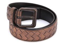 292.05$  Buy here - http://vipbr.justgood.pw/vig/item.php?t=b0qi6d35189 - Guaranteed Bottega Veneta Copper Intrecciato Leather Waist Belt