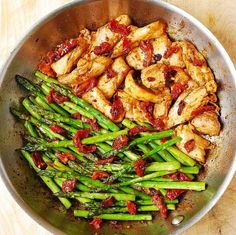 Sundried tomato chicken and asparagus