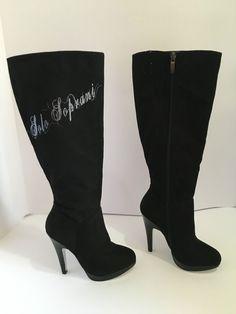 stivali scarpe camoscio solo soprani nero 35 tacco 12 plateau 1 alto cm 47
