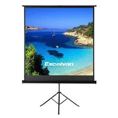 Projector Screen With Foldable Stand Tripod Excelvan Portable 70 X Hd 1 Pull Up Movie For Home Theater Cinema Wedding Party Office
