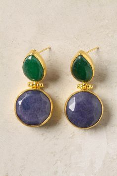 Stacked Stone Drops. The perfect pair of earings, with the power to elevate even your most casual looks. Love!