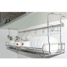 Details about Stainless Dish Drying Sink Cabinet Fixing Rack Ladle Cup Shelf Sink Kitchen Stainless Dish Drying Fixing Rack Ladle Cup Spoon Shelf Sink Kitchen Organizer, Kitchen Sink Organization, Sink Organizer, Kitchen Storage, Trailer Organization, Storage Organization, Storage Ideas, New Kitchen, Kitchen Decor, Kitchen Ideas