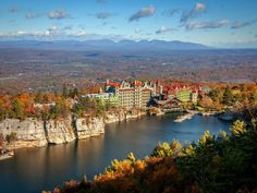 Wow.  Had no idea this was here. What to know: Mohonk, a Victorian castle resort on the Shawangunk Ridge in Ulster County, has endless vistas around its lake.