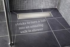 If you want to get rid of your tub and convert to a shower the shower pan and drain system will be key. In this article get practical tips for an amazing walk in shower in a small space. | Innovate Building Solutions