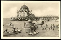 "Ostia Stabilimento Balneare ""Roma"" (Panettone) Old Photos, Rome, Taj Mahal, Italy, Vintage, History, World, Building, Travel"