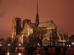 The cathedral of Notre Dame is a beautiful example of Gothic architecture, and a stunning sight of Paris. Go there during the day to see the huge stained glass windows and the creepy gargoyles in the bell tower, or go there at night for a hauntingly beautiful view of Notre Dame lit up against the dark sky.