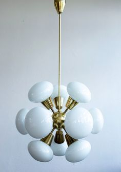 Lustry Kamenický Šenov hanging lamp, 1960s