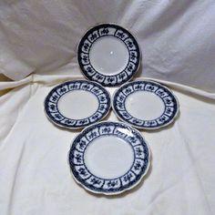 Wedgwood Flow Blue Tea Salad Dessert Plates by SilverFoxAntiques