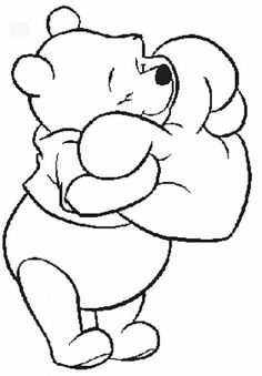 Pooh Disney Valentine Coloring Pages Boys Winnie The Cartoon Free Online And Printable