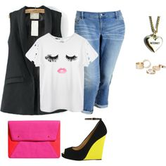 plus size simply girly by kristie-payne on Polyvore featuring Old Navy, Giuseppe Zanotti, H&M, Lazy Oaf and MANGO