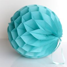 £1.90 Carribean blue/ Tiffany's paper honeycomb - hanging party decorations