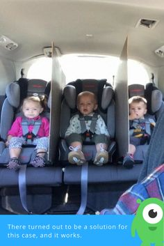 Three kids are not only great happiness but also a lot of trouble, especially if they like to take toys from each other. Of course, you can calm them down at home, but what about a car? There turned out to be a solution for this case, and it works.