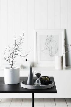 Concrete Round Tray - Natural