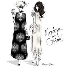 Sip your coffee in style this Monday...I'm about to release my new Kaftan Collection....stay tuned!!
