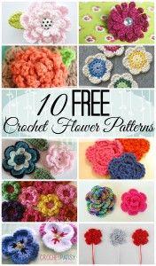 10 free crochet flower patterns to help bring in spring!