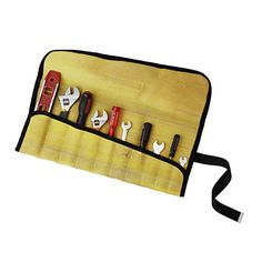 Tool roll made of old fire hose.  Perfect to stash in the car.