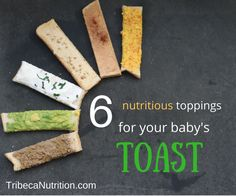 Did you know that toast fingers are perfect finger food for your baby? Here are 6 nutritious toppings for your baby's toast.