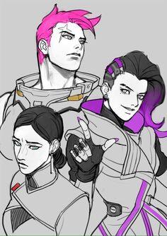 Overwatch, Katya Volskaya, Zarya, Sombra