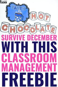 December Classroom Management Freebie to Help You Make it to Winter Break