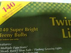 140 Count Teeny Twinkle CLEAR Light Strand. SUPER BRIGHT TEENY RICE BULBS. 3 Different Twinkle Speeds/Dancing. Brown Cord. One goes out, the rest stay lit. Steady Burn/Slow Fade/Flashing Growing Lights. | eBay!