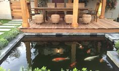 cool 8 Stunning Japanese Koi Ponds for Your Garden To Try Soon Water Features In The Garden, Garden Features, Outdoor Rooms, Outdoor Furniture, Outdoor Decor, Pond Waterfall, Japanese Koi, Water Lighting, Water Garden
