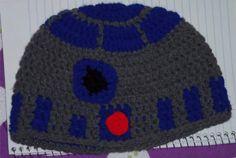 R2D2 Crochet Hat https://www.facebook.com/KatfishcokeHandmadeCrochet