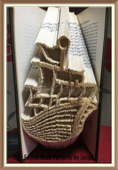 Gondola Boat. Book Folding Pattern by JHBookFoldPatterns on Etsy
