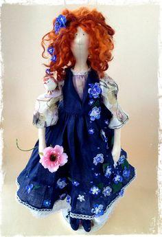 Текстильная интерьерная кукла Тильда от LilyDollsGifts на Etsy