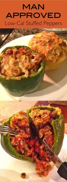 Mexican Stuffed Peppers- This light BUT man approved meal packs in the protein and veggies.