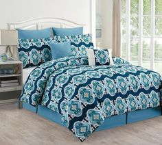 Amber Diamond 8 Piece Comforter Set