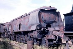 Image result for scrap yard for steam trains photos