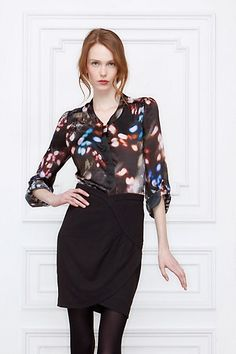 Silk blouse in a beautiful, non-boring print. I hate blouses, except this one.