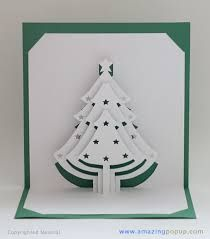 paper cut christmas card pop up - Google Search