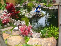 Plants, Pond Pond and Waterfall Landscaping Network Calimesa, CA