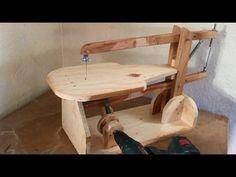 Making a Homemade Scroll Saw (Drill Powered) - El Yapımı Kıl Testere Makinası - YouTube