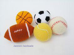 Crochet Sport balls set