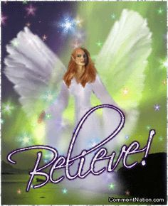 Believe Fairy Angel MySpace Glitter Graphic Comment